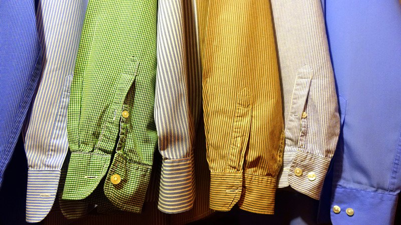dress shirts of different colors