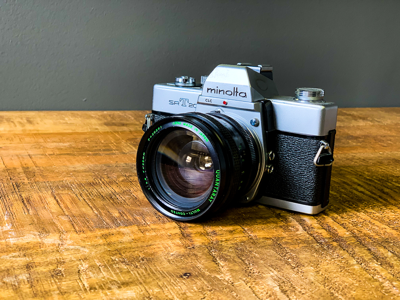 example of an iPhone photo of a Minolta
